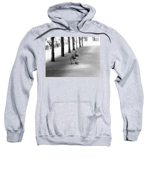 Little Girl With Ball Paris Sweatshirt
