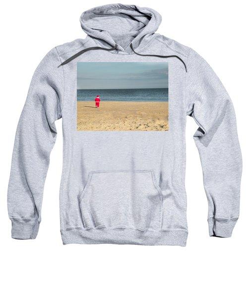 Little Santa On The Beach Sweatshirt