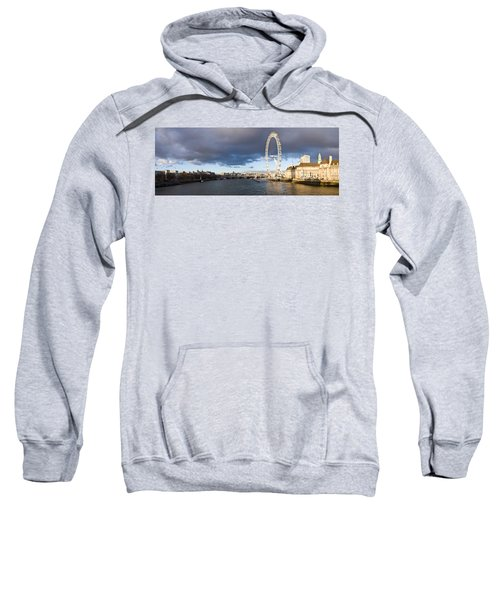 London Eye At South Bank, Thames River Sweatshirt by Panoramic Images