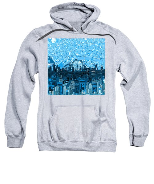 London Skyline Abstract Blue Sweatshirt