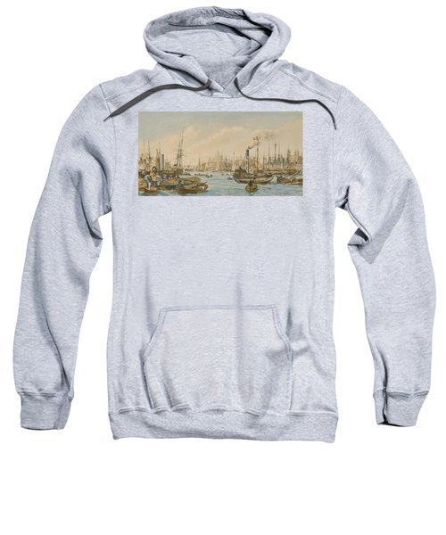 Looking Towards London Bridge Sweatshirt by William Parrot
