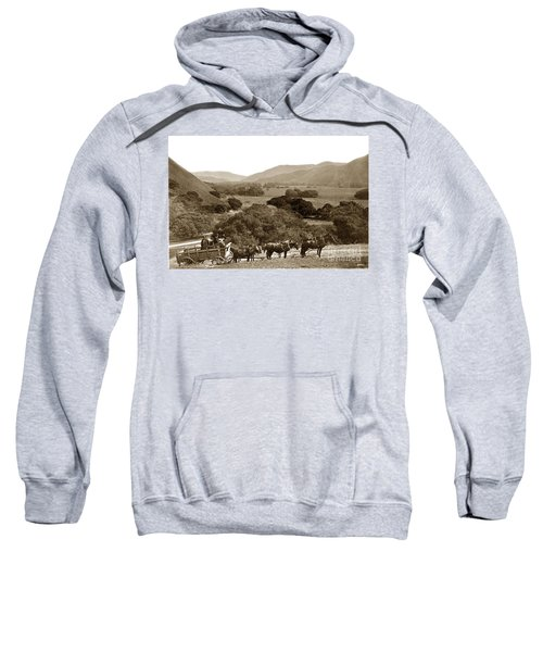 Looking Up The Carmel Valley California Circa 1880 Sweatshirt