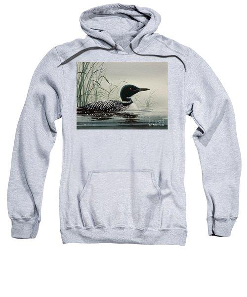 Loon Near The Shore Sweatshirt by James Williamson