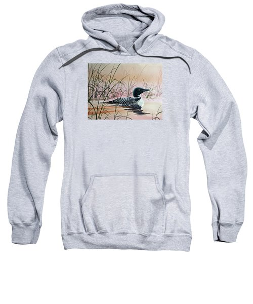 Loon Sunset Sweatshirt by James Williamson