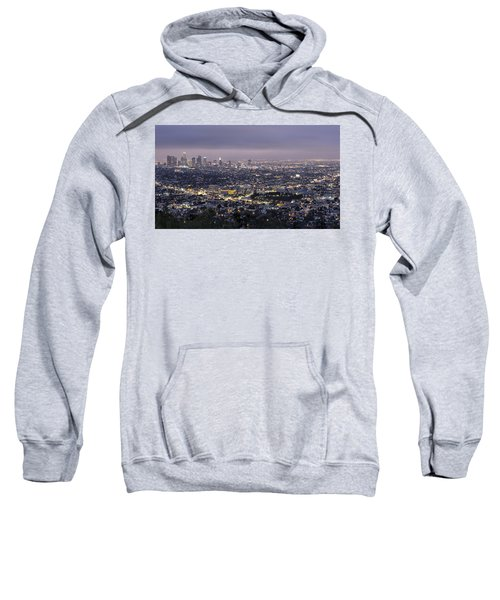 Los Angeles At Night From The Griffith Park Observatory Sweatshirt
