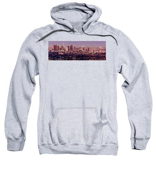 Los Angeles Skyline At Dusk Sweatshirt by Jon Holiday
