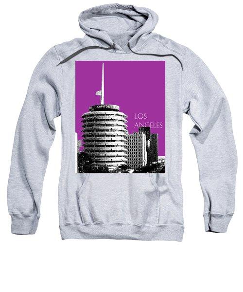 Los Angeles Skyline Capitol Records - Plum Sweatshirt