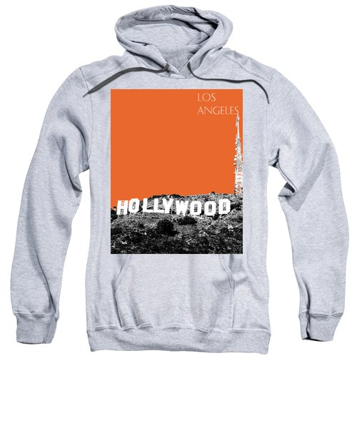 Los Angeles Skyline Hollywood - Coral Sweatshirt