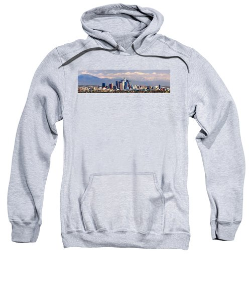 Los Angeles Skyline With Mountains In Background Sweatshirt by Jon Holiday