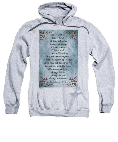 Love Is Patient Clouds Gold Leaf Sweatshirt