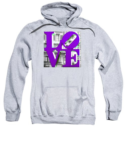 Love Philadelphia Purple Sweatshirt