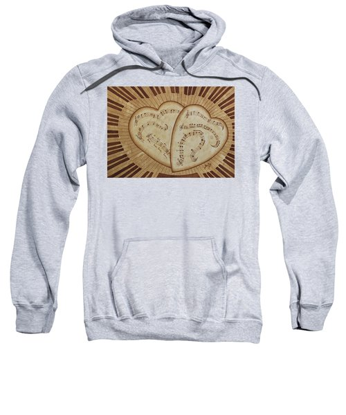 Sweatshirt featuring the painting Love Song Of Our Hearts by Georgeta Blanaru