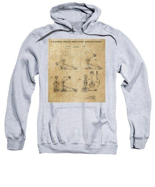 Ludwig Drum Pedal 3 Patent Art 1951 Sweatshirt