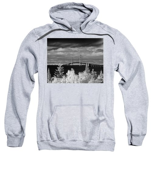 Macinac Bridge - Infrared Sweatshirt