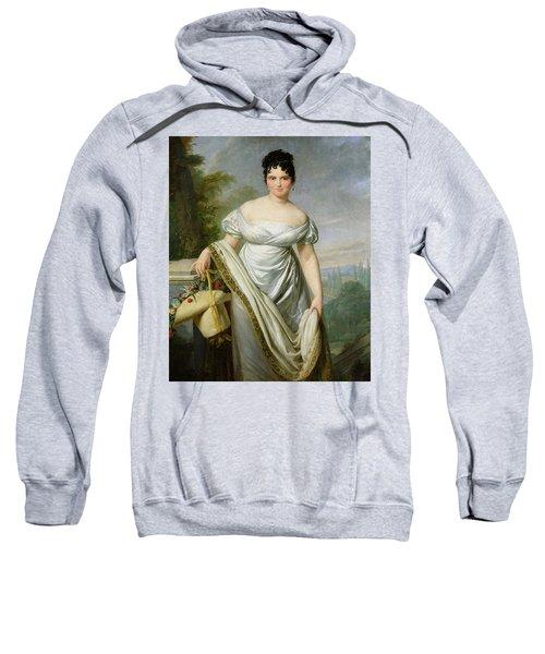 Madame Tallien 1773-1835 Oil On Canvas Sweatshirt