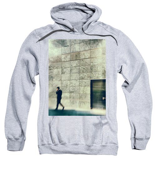 Sweatshirt featuring the photograph Man With Cell Phone by Silvia Ganora