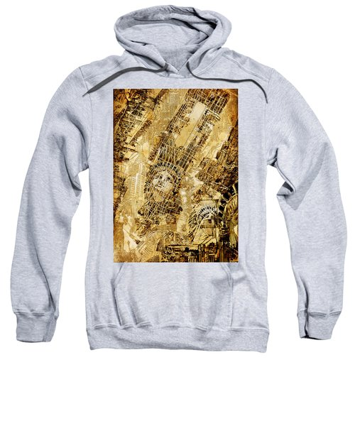 Manhattan Map Antique Sweatshirt