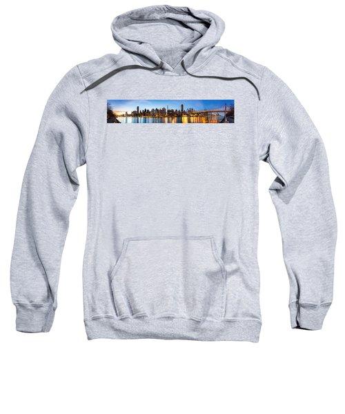 Manhattan Panorama And Queensboro Bridge Sweatshirt