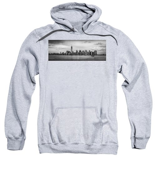 Manhattan Skyline Black And White Sweatshirt