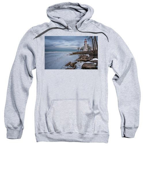 Marblehead Lighthouse  Sweatshirt by James Dean