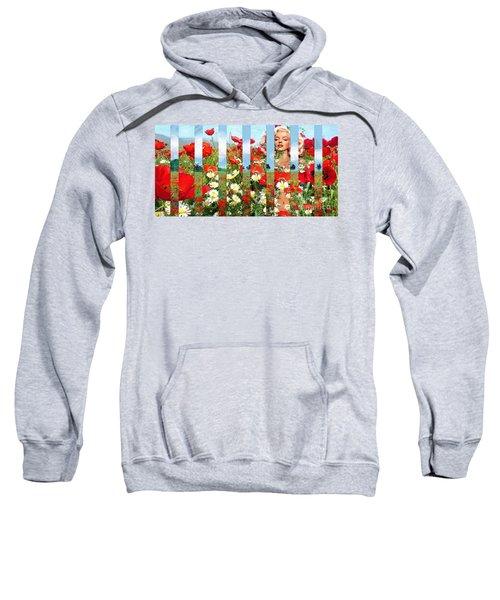 Marilyn In Poppies 1 Sweatshirt
