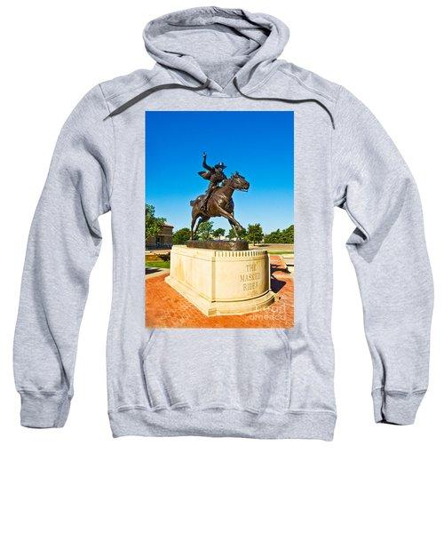 Sweatshirt featuring the photograph Masked Rider Statue by Mae Wertz
