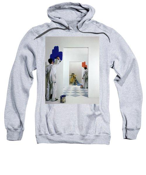 Men Painting Walls Sweatshirt