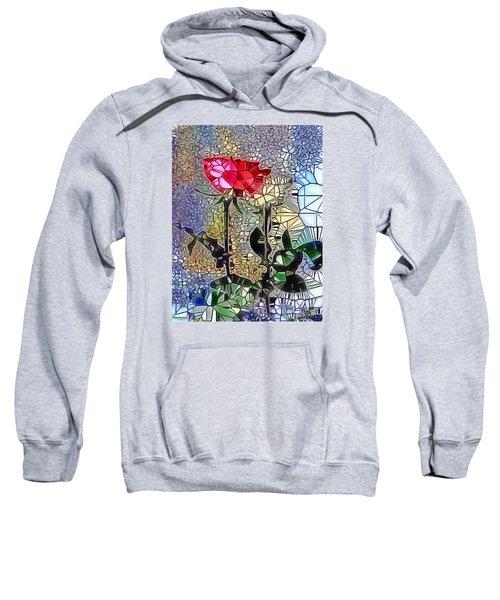 Metalic Rose Sweatshirt