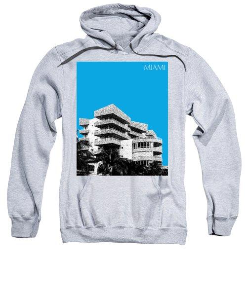Miami Skyline Art Deco District - Ice Blue Sweatshirt