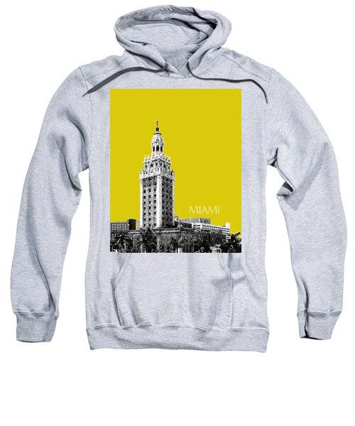 Miami Skyline Freedom Tower - Mustard Sweatshirt