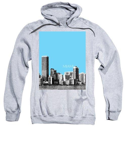 Miami Skyline - Sky Blue Sweatshirt