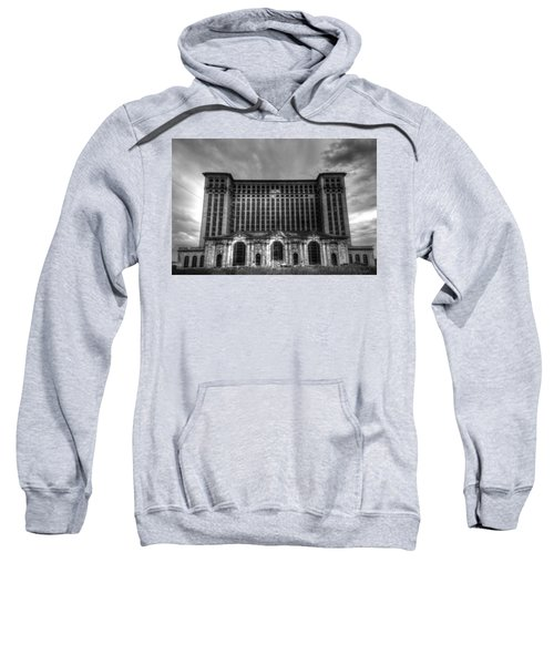 Michigan Central Station Bw Sweatshirt