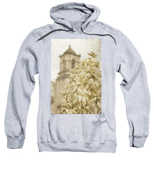 Mission San Jose And Blooming Yucca Sweatshirt