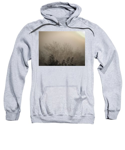 Sweatshirt featuring the photograph Misty Morning by James Truett