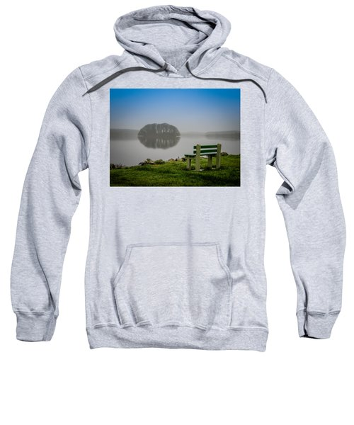 Sweatshirt featuring the photograph Misty Morning On Lake Knockalough by James Truett