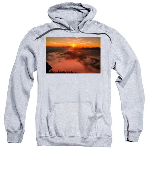 Misty Sunrise On The Lilienstein Sweatshirt