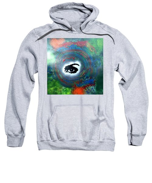 Mixed Media Abstract Post Modern Art By Alfredo Garcia Eye See You Sweatshirt