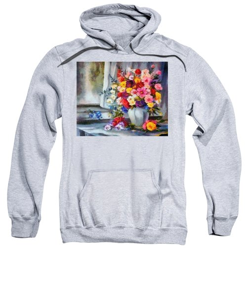 Monet Floral Edged Sweatshirt
