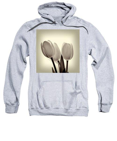 Monochrome Tulips With Vignette Sweatshirt