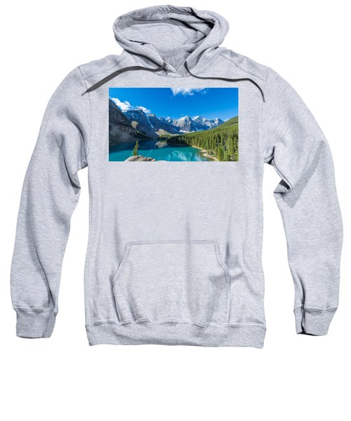 Moraine Lake At Banff National Park Sweatshirt
