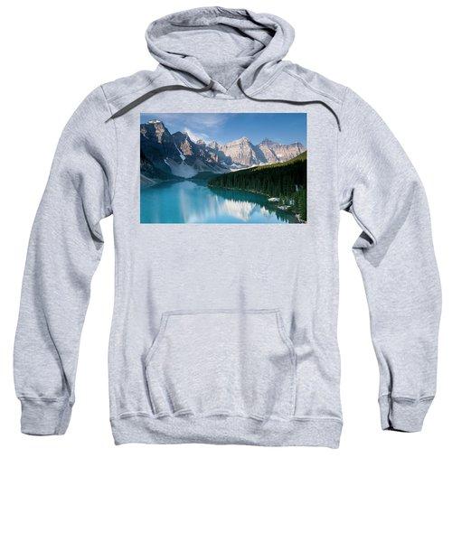 Moraine Lake In Banff National Park Sweatshirt