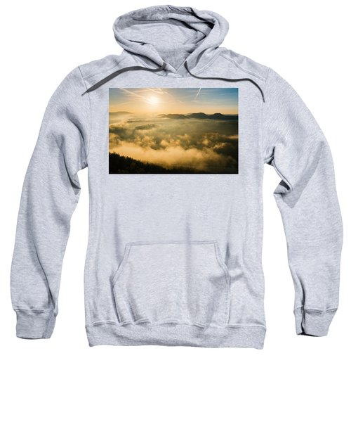 Morning Fog In The Saxon Switzerland Sweatshirt