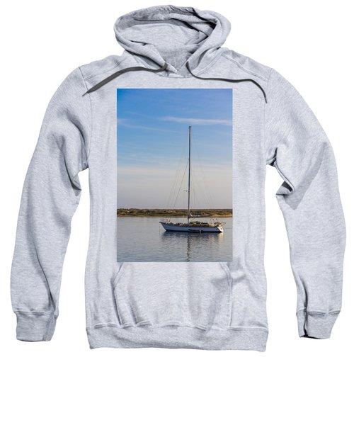 Sailboat At Anchor In Morro Bay Sweatshirt