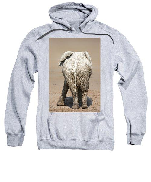 Muddy Elephant With Funny Stance  Sweatshirt