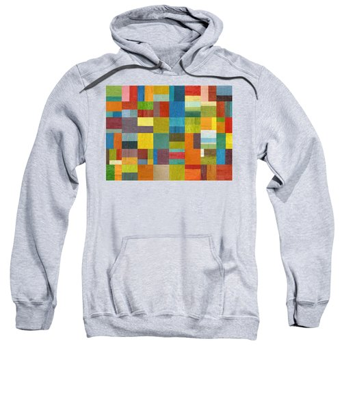 Sweatshirt featuring the painting Multiple Exposures Lll by Michelle Calkins