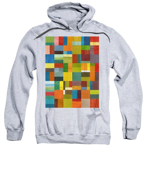 Sweatshirt featuring the painting Multiple Exposures Lv by Michelle Calkins