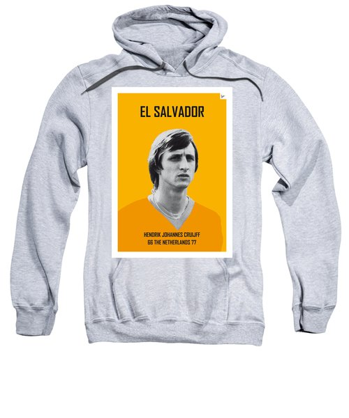 My Cruijff Soccer Legend Poster Sweatshirt by Chungkong Art