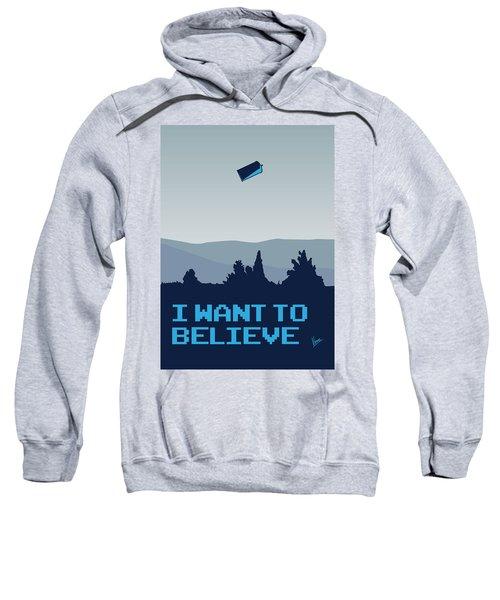 My I Want To Believe Minimal Poster- Tardis Sweatshirt