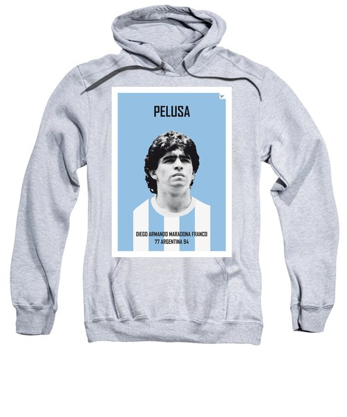 My Maradona Soccer Legend Poster Sweatshirt by Chungkong Art