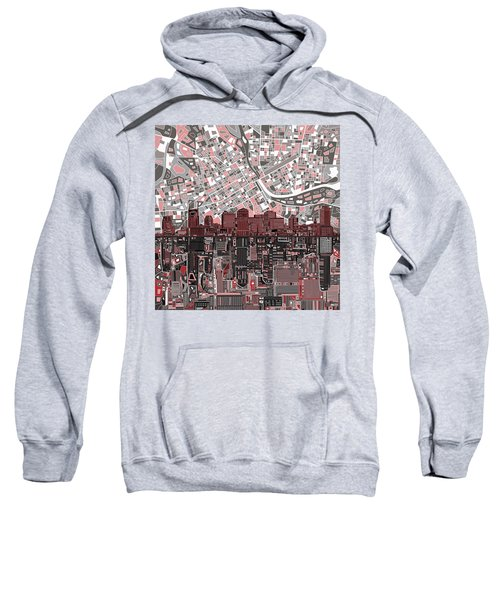 Nashville Skyline Abstract 3 Sweatshirt by Bekim Art